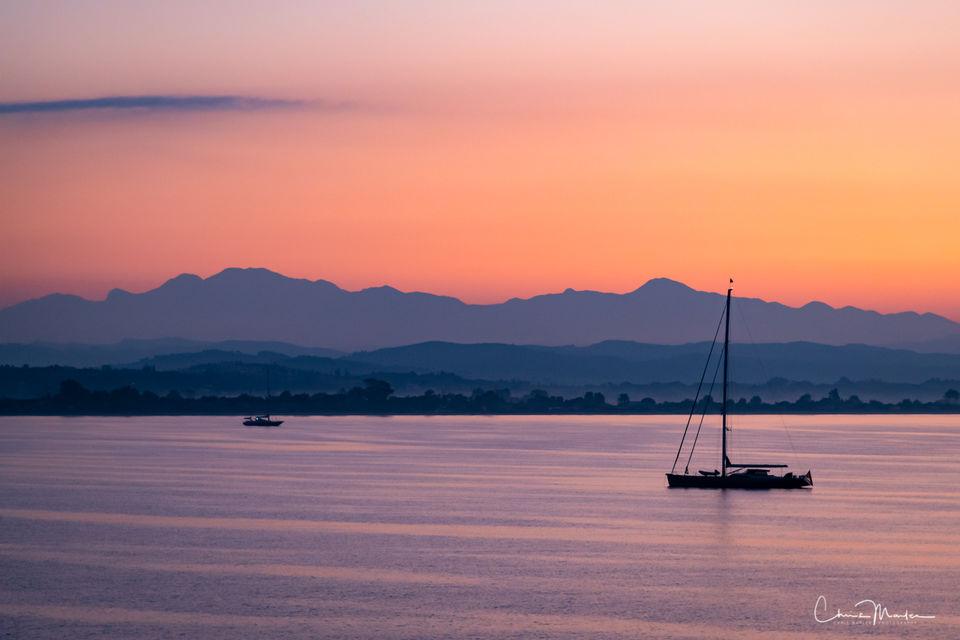 Greece, Katakolon, Ionian Sea, boats, dawn, sunrise, peaceful, Greek Isle, ocean, view