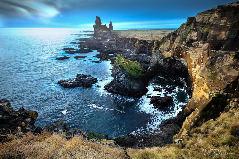 Iceland, Londrangar, cliffs, north Atlantic, ocean, Snaefellsnes Peninsual
