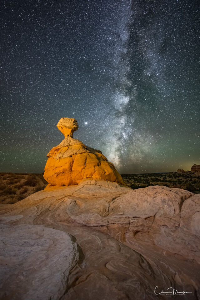 Dare to Dream, White Pocket, Milky Way, astrophotography