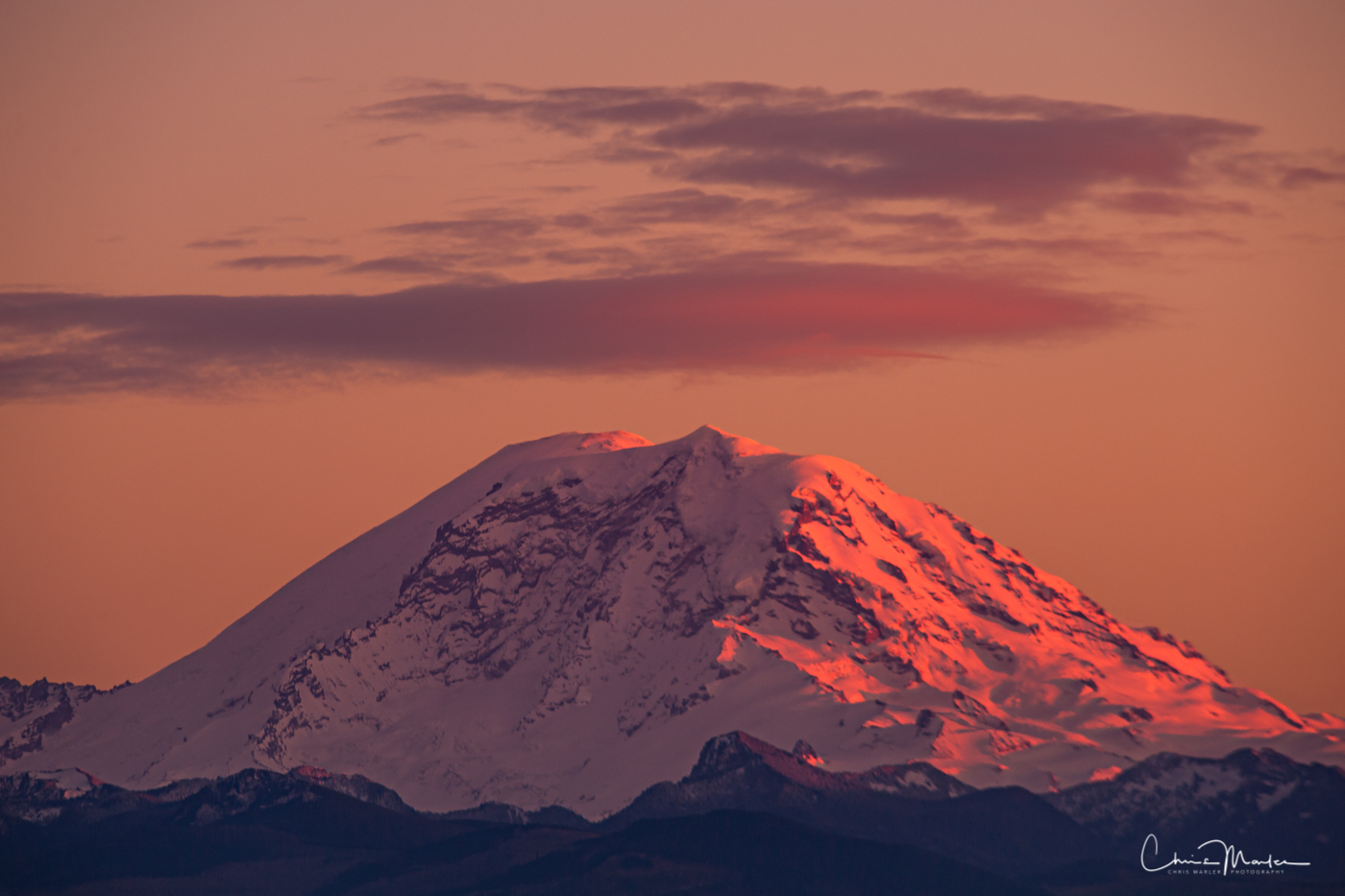 Mt. Rainier at sunset can be extraordinary. I've lived in the Pacific Northwest for over 30 years and witnessed some amazing...