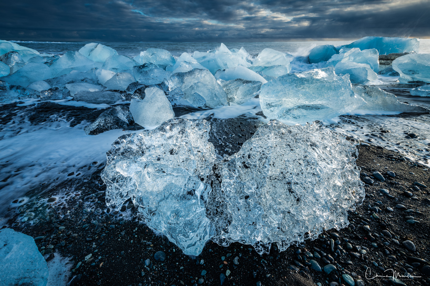 Iceland, Diamond Beach, Jökulsárlón, Iceberg, crystal, , photo