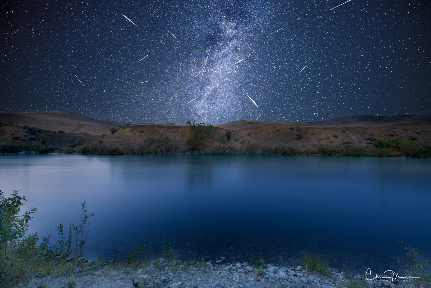 Perseids on the Payette, Perseids, Meteor Shower, Payette River, Milky Way