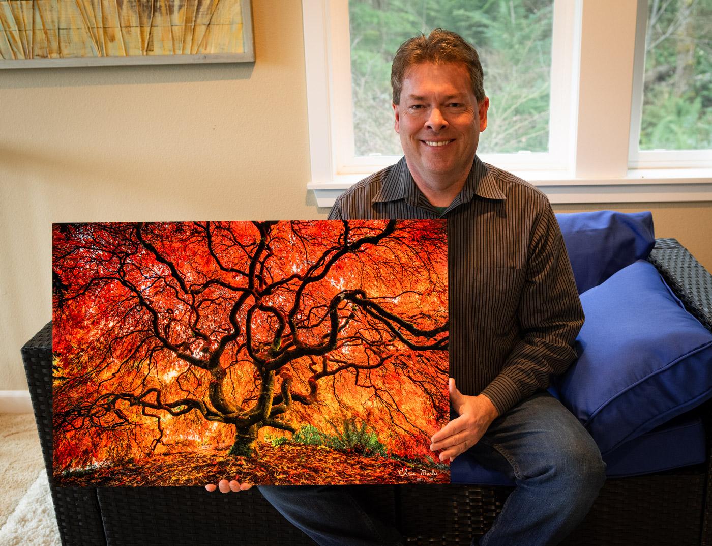 Fire Tree Print
